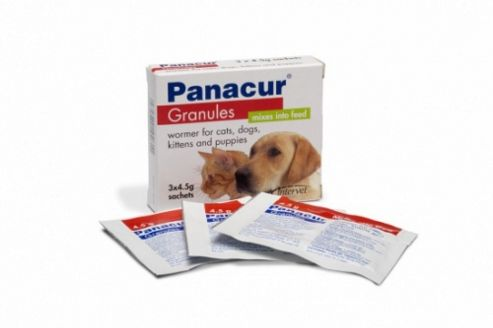 Panacur Granules 22% Cat/Dog 3 x 4.5g Sachets