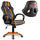 EarthCroc Orange Striped Office Racing Gaming Chair Y-2842