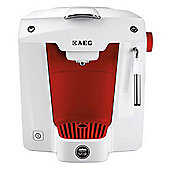 AEG LM5100RE-U A ModoMio Favola Espresso Machine - White & Red