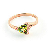 QP Jewellers 0.60ct Peridot Devotion Heart Ring in 14K Rose Gold
