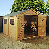 Premier Tongue & Groove Apex Shed With Double Doors Garden Wooden Shed