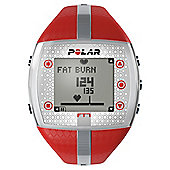 Polar FT7 Sports Watch/Heart Rate Monitor, Red/Silver