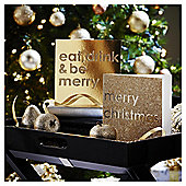 Eat Drink and Be Merry Christmas Cards, 10 pack