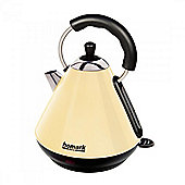 Homark HMKT200CR 1.8L 3kw Pyramid Style Cordless Kettle in Cream