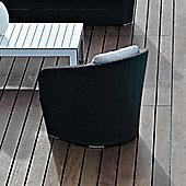 Varaschin Gardenia Relax Chair by Varaschin R and D - Dark Brown - Panama Azzurro