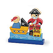 Viga Wooden Magnetic Pirate Puzzle