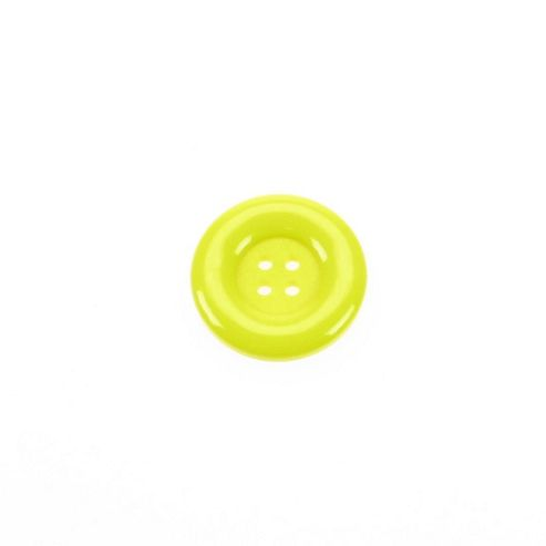 Dill Buttons 23mm Round - Yellow