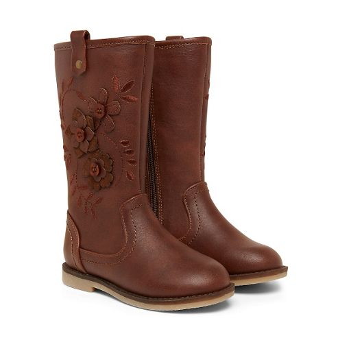 buy b brown flower boots size 1 adlt from our