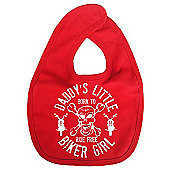 Dirty Fingers Daddy's little Biker Girl Baby Bib Red