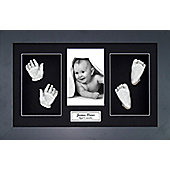 3D Baby Casting Kit - Black Frame - Silver Paint