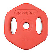 Bodymax 5Kg Red Rubber Studio Disc (single)