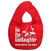 Dirty Fingers I'm the Goddaughter future head of the family Bib Red
