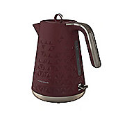 Morphy Richards 108253 Prism Textured Jug Kettle - Merlot