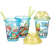 My Friends Tigger and Pooh 3 Pack Drinking Cup with Straw