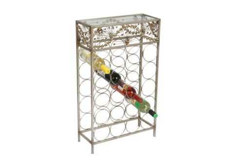 Straits Trading Co. Jewelled Metal Wine rack