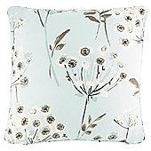 Allium Printed Cushion- Duckegg 43X43