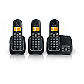 Philips CD1953B Triple Cordless Phone Handsets with Caller ID & Phonebook in Black