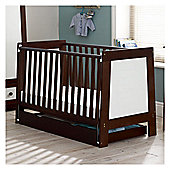 Saplings Pisa Cot Bed - Walnut and White