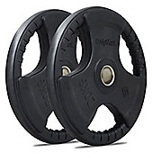 Bodymax Olympic Rubber Radial Weight Plates - 2 x 20kg