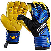 Goalkeeper Gloves Mitre BRZ Pro - Black & Blue