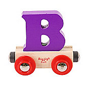 Bigjigs Rail Rail Name Letter B (Purple)