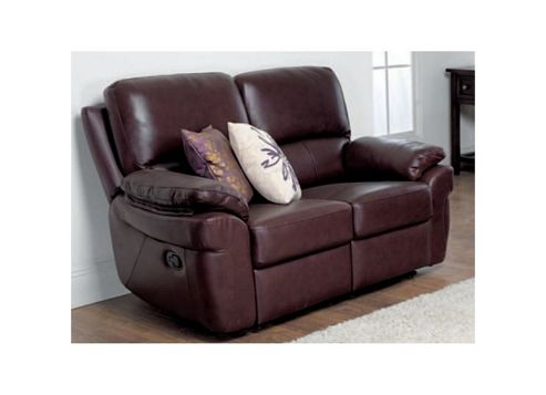 Furniture Link Monzano Two Fixed Seat Sofa - Chestnut