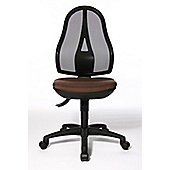 Topstar Open Point Mesh Mid-Back Task Chair - Without Arms - Dark Brown - Without Headrest