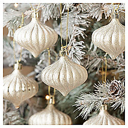 Gold Onions Christmas Tree Decorations, 12 pack