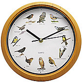 Homemate Bird Sound Wall Clock in Pine