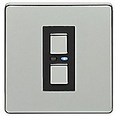 Megaman LightwaveRF 250W 1 Gang 2-Way SLAVE Dimmer (Chrome)
