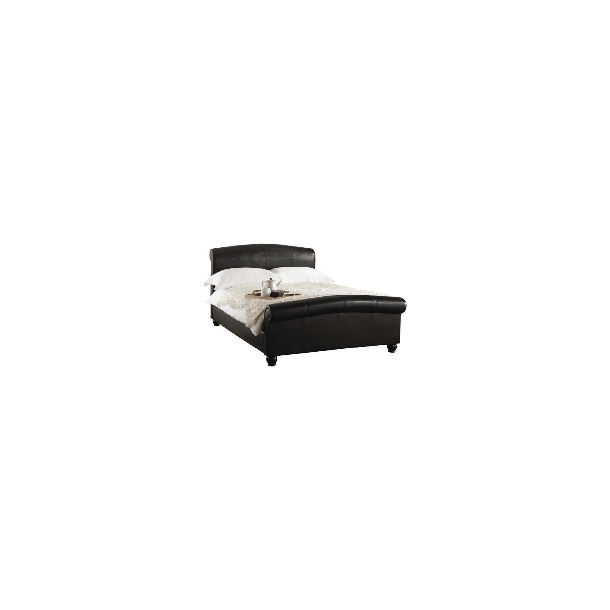Hyder Knightsbridge Faux Leather Bed - Double at Tesco Direct