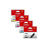 Canon CLI-551 (Multi Pack C/M/Y/B) Ink Cartridge with Security