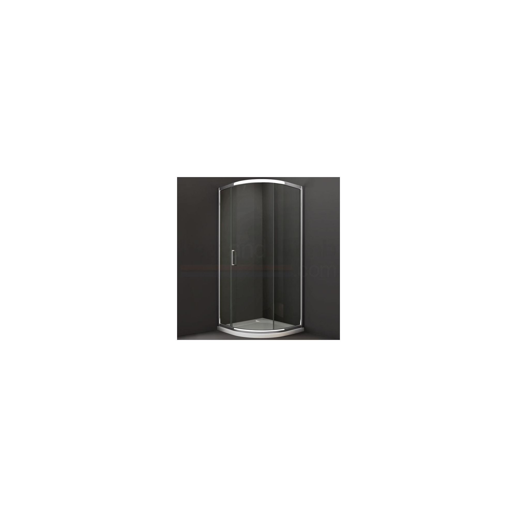 Merlyn Series 8 Sliding 1 Door Quadrant Shower Enclosure, 900mm, Low Profile Tray, 8mm Glass at Tesco Direct