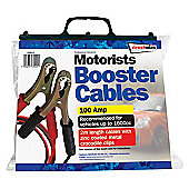 2m Metal Clips 100 Amp Booster Cable for up to 1600cc