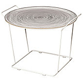 Maze Minnie Mae Large Tray Table - White Metal Wire and White Moulded Plywood