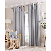Catherine Lansfield Home Opulent Velvet Duckegg Curtains 46x72