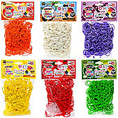 DIY Zupa Loomi Bandz 3600 Fruity Tooty Scented Rubber Bands (Set of 6 packets)