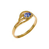 QP Jewellers 0.30ct Tanzanite Pear Strand Ring in 14K Rose Gold
