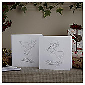 Dove and Angel Christmas Cards, 10 pack