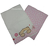 Forever Friends Beautiful Cot Bed Flat & Fitted Sheet Pack