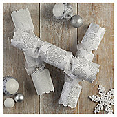 Tesco Luxury Doily Glitter Crackers, 6 Pack