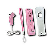 Wii Remote with Gripz Pink