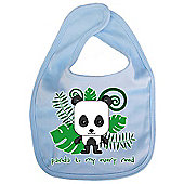 Dirty Fingers Panda to my every need Baby Cute Bib Blue