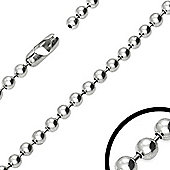 Urban Male Modern Military Style Stainless Steel 6mm Ball Link Chain 24in Long