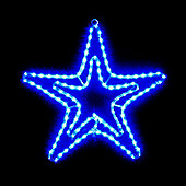 18in Tape Light Double Star Blue