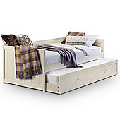 Happy Beds Jessica Guest Bed 3ft White 2x Pocket Sprung Mattress