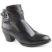 Caravelle Ladies Hilary Black Ankle Boots - Black