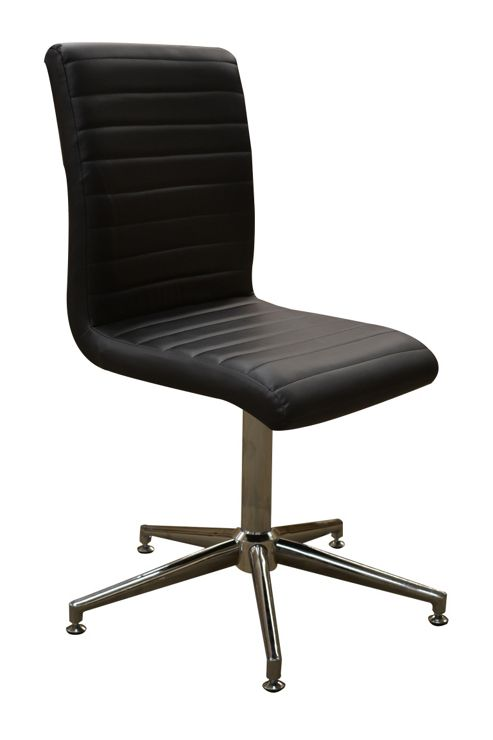 Buy ripple modern faux leather swivel dining chair from for Swivel dining chairs modern