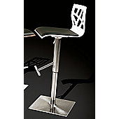 Dan-Form Funky Barstool - White Lacquer