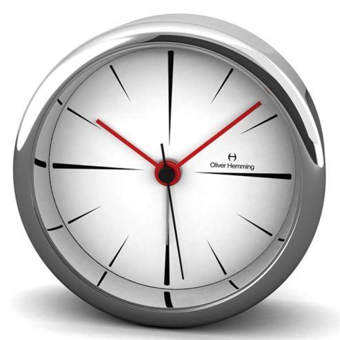 Oliver Hemming Alloy Desire Alarm Clock - 8cm